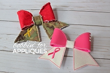 Awareness Ribbon Cheer Bow BIG BOW project ITH